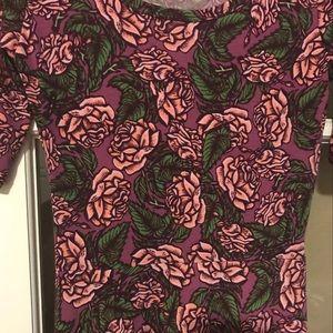 LuLaRoe Ana in Pink Rose Print